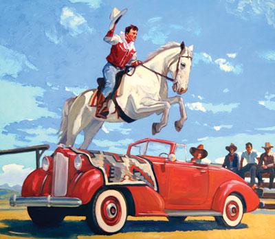 Oil painting by Dennis Ziemienski